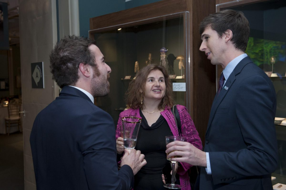 A number of 2018 Schmidt Science Fellows are on placement in the Boston and Cambridge area. This meant their PIs were able to join events, including the formal dinner at the Harvard Museum of Natural History. Here, Fellows Dr Mattia Serra and Dr Ryan Truby are in conversation with Ryan's PI, Prof Daniela Rus.