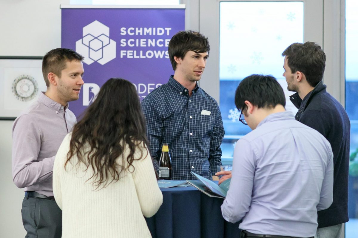 The Global Meetings are an opportunity for Fellows to network with other postdocs. During the Northern California meeting, Schmidt Science Fellows met with postdocs from Stanford University, UC Berkeley, and USCF at an event hosted at the Chan Zuckerberg BioHub.