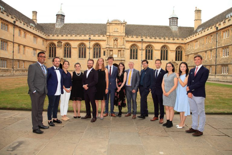 The 2018 Schmidt Science Fellows at Wadham College, Oxford.