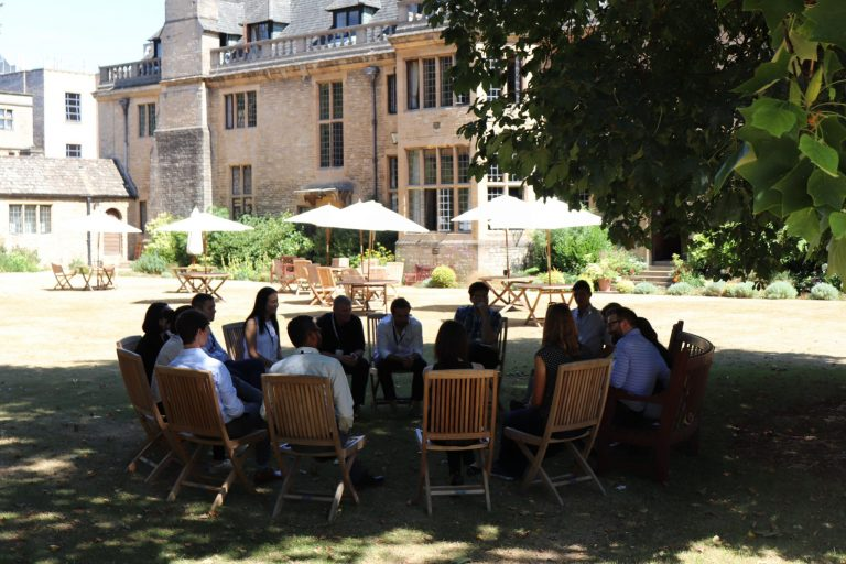 Group discussions of leadership and ethics were an important part of the Global Meeting. Fellows were able to take advantage of the beautiful surroundings of Rhodes House.