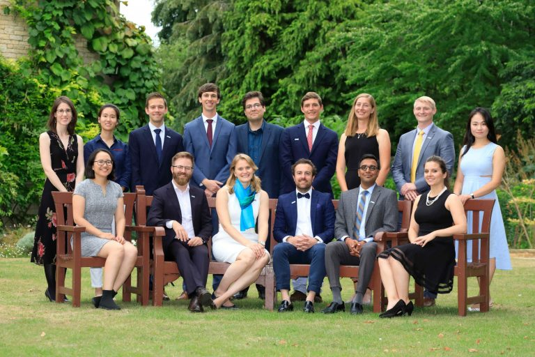 The 2018 Schmidt Science Fellows and Executive Director Dr Megan Wheeler at the Oxford Global Meeting, August 2018.
