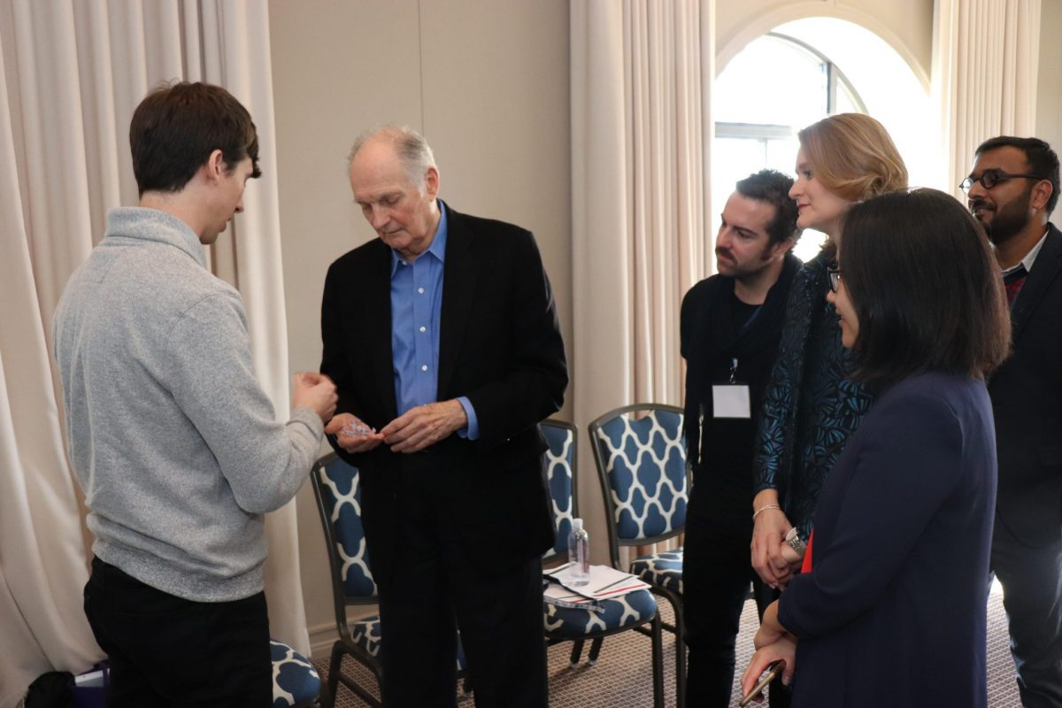 Fellow Dr Ryan Truby discussed his work in soft robotics with Alan Alda.