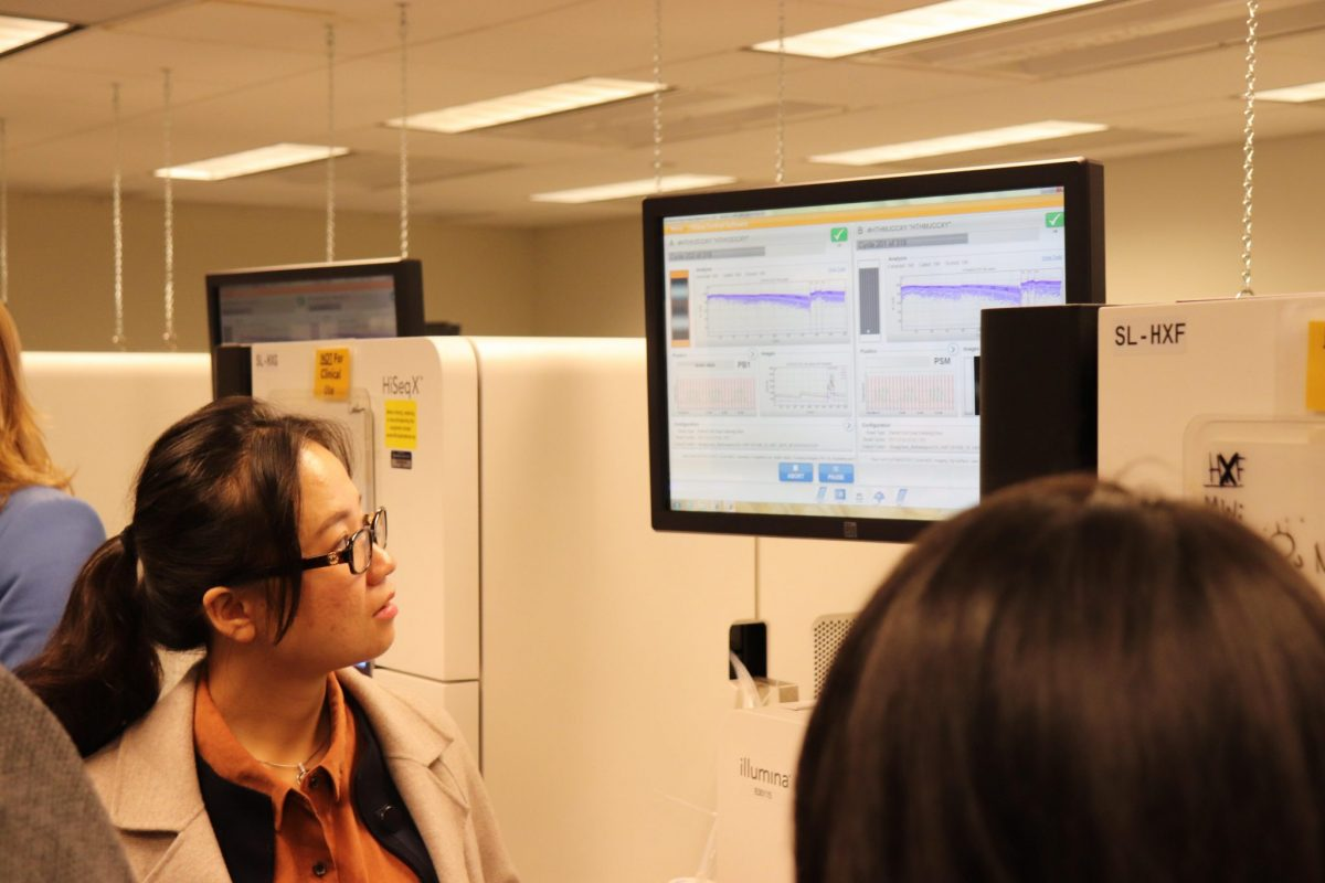 The Meeting included a tour of the Broad Institute's genome sequencing facility.