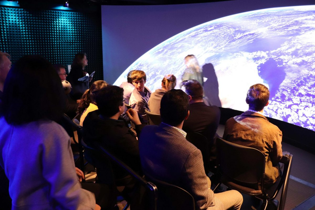 Fellows visited the Harvard Visualization Lab to experience the latest technology in virtual and augmented reality. The tour included the Immersive Visualization Facility.