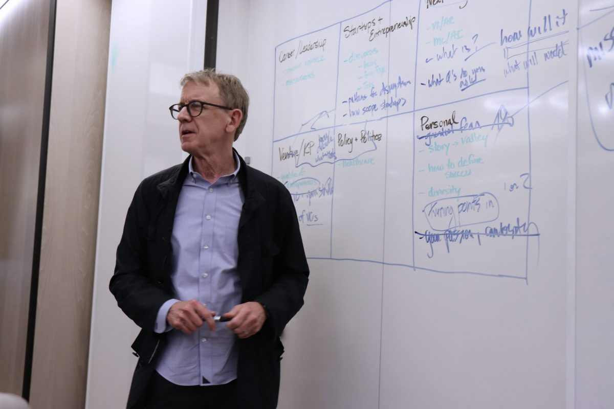 Fellows had the unique opportunity to hear from some of Silicon Valley's most renowned venture capitalists and to discuss their visions of the future. John Doerr is Chairman of Kleiner Perkins and was an  investor in Google, Spotify, and Amazon, among many others.