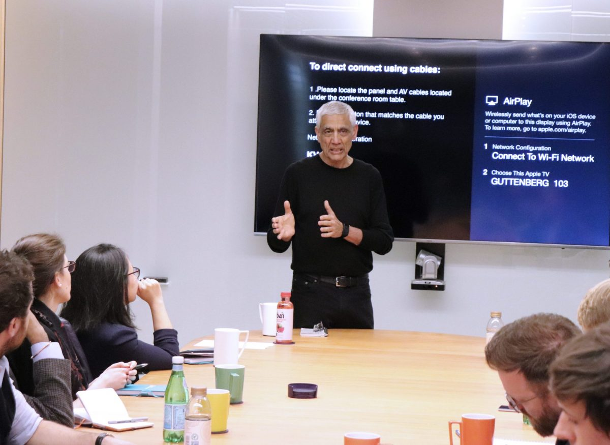 Fellows had the unique opportunity to hear from some of Silicon Valley's most renowned venture capitalists and to discuss their visions of the future. Vinod Khosla is the founder of Khosla Ventures.